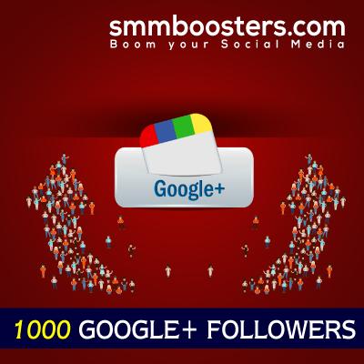 Buy 1000 Google+ Followers